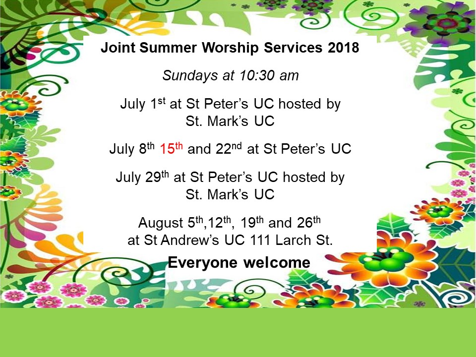 Shared Summer Services 2018